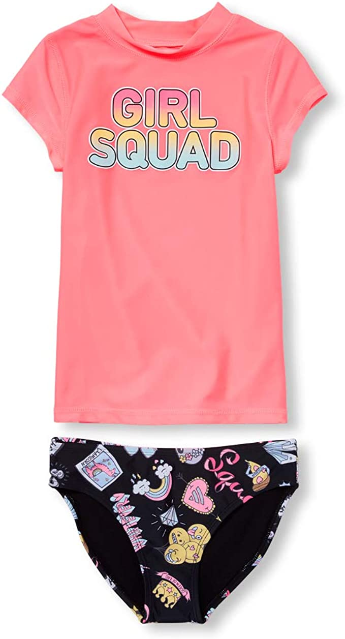 Sweet /& Soft Baby Girls 4-Piece Rash Guard and Bikini Swimsuit Sets