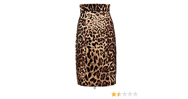 Womens Leopard Print Pencil Skirt Vintage Style Pin Up Style 50s Mid-Calf  at Amazon Women s Clothing store  ff840bc0f