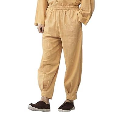 ZanYing Pantalones Informales para Hombre, para Yoga, Taichi ...