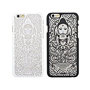 LCJ Relief Snow Pattern PC Soft Cover for iPhone 6 (Assorted Colors) , Black
