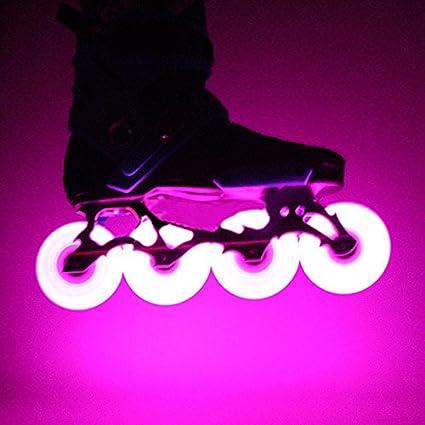 Qjoy - Ruedas de Repuesto para Patines en línea con luz LED 2.51/2.68/