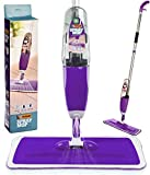 #5: Vorfreude – Floor Mop with Integrated Spray – Included Refillable 700Ml Capacity Bottle and Reusable Microfibre Pad
