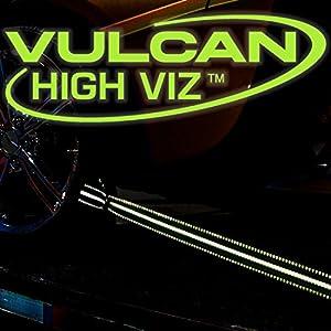 Vulcan Brands HI-VIZ Exotic Car Tie-Down Kit w/ Snap Hooks (2'' x 12' - Pack of 4)
