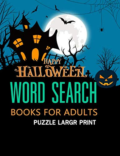 Halloween Word Search Books for Adults: Puzzle Large