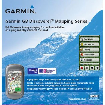 Garmin GB Discoverer 2010 South West Coast Path, North Topographical Map microSD (South Microsd Card)