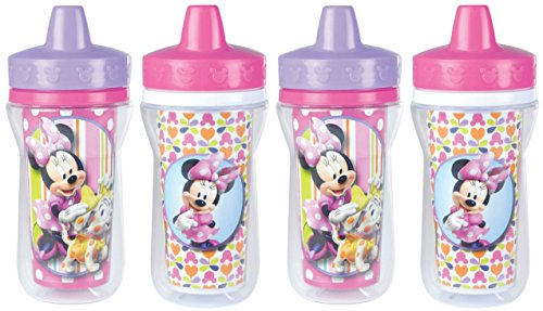 Disney 9 Ounce Insulated Sippy Cup, 4 Count, Minnie Mouse