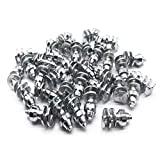 Screw in Tire Stud,Spikes for tire,Marrkey Steel Body Carbide Tips [Security Anti-Skid] Wheel Tyre Snow Tire Spikes for Loaders Tractors Skid Steer Tires & Tracks MS1910(8 x 19mm)