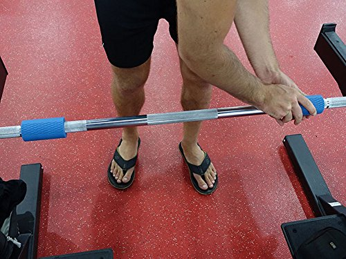 Thick Bar Fat Grips Weightlifting Fat Bar Grips Weight Machine Grips Blue