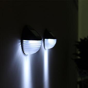Sonnenenergie Sensor Garten Lichter Deko Lichterkette Kugeln, Sansee  Sonnenenergie Licht Sensor 6 LED Wand Licht