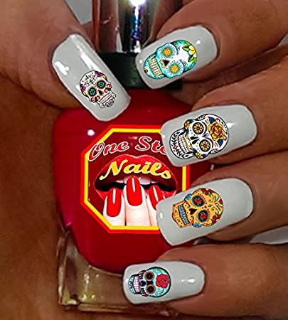 Amazon Sugar Skull Nail Art Decals Tattoo Set Of 63 Clear