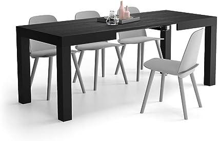 Oferta amazon: Mobili Fiver, Mesa de Cocina Extensible, Modelo First, Color Negro Ceniza, 120 x 80 x 76 cm, Made in Italy