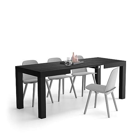 Mobili Fiver, Mesa de Cocina Extensible, Modelo First, Color Negro ...
