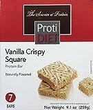 ProtiDiet Vanilla Crispy Squares - 7 servings per package - 15 g protein per serving