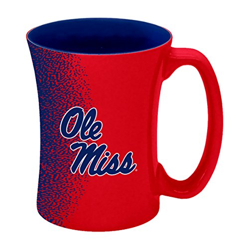 Boelter Brands NCAA Mississippi Ole Miss Rebels Sculpted Mocha Mug, 14-Ounce by Boelter Brands