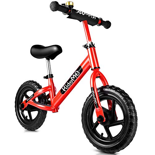 Balance Bike for 3 4 5 6 Years Old for Girls Boys, No Pedal Sport Walking 12 Inch Toddler Kids Balance Bike Bicycle Non-Inflatable Foam Tire with Adjustable Handlebar/Saddle ()