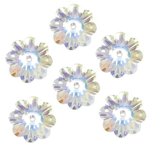 SWAROVSKI ELEMENTS Crystal Margarita Beads #3700 6mm Crystal AB (12) ()