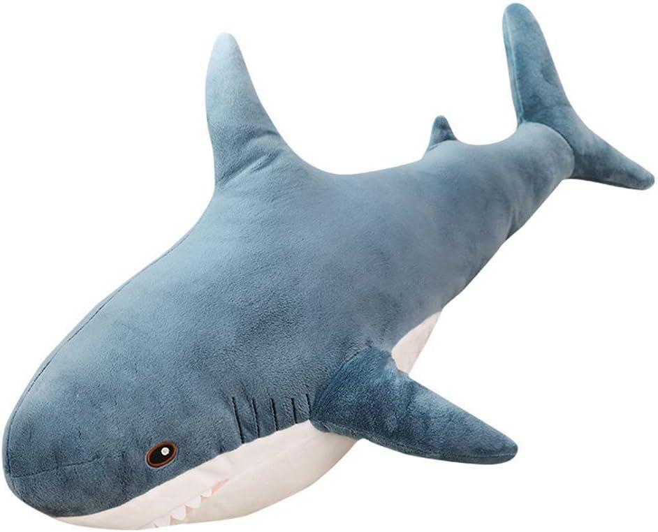 iSunday Lovely Big Shark Soft Peluches Muñecas de peluche Almohadas de animales Dormitorio Sofá Decoración, 100cm