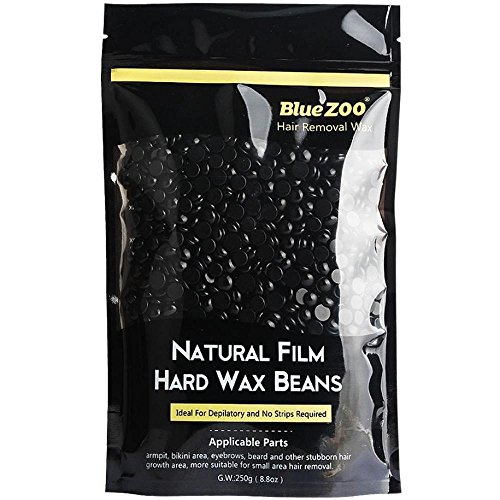 FTXJ No Strip Depilatory Hot Film Hard Wax Pellet Waxing Body Hair Removal Bean (Black)