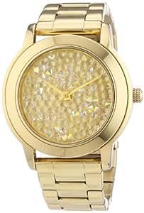 DKNY NY8437 - Reloj analógico de cuarzo para mujer, correa de acero inoxidable chapado color dorado
