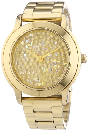 - DKNY Gold-tone Dial Gold-tone Stainless Steel Bracelet Ladies Watch NY8437