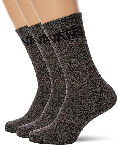 Vans Classic Crew (3 Pack) Socks Black Heather Mens Large (9-12) from Vans