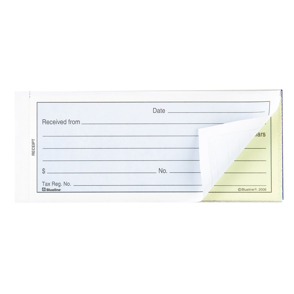 Blueline Receipt Book 50 Carbonless Duplicates English 2-3/4-Inchx6-3/4-Inch (DC2870) Blueline Canada