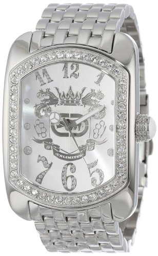 Marc Ecko Men's 'Rhino' Quartz Stainless Steel Dress Watch, Color:Silver-Toned (Model: E12532G1)
