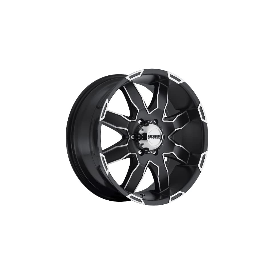 Ultra Phantom 17 Black Machined Wheel / Rim 5x5.5 with a 20mm Offset and a 87 Hub Bore. Partnumber 225 7885U+20
