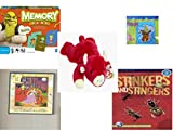 Children's Gift Bundle - Ages 3-5 [5 Piece] - Shrek Forever After Memory Game - Scooby Doo & Shaggy 100 Piece Puzzle Toy - TY Beanie Baby - Snort the Bull - 2 in 1 Fairy Tales: Cinderella/Ugly Duck