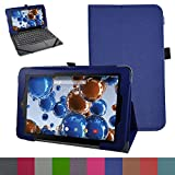 "RCA 10 Viking Pro 10.1 Case,Mama Mouth PU Leather Folio 2-folding Stand Cover with Stylus Holder for 10.1"" RCA 10 Viking Pro Tablet,Dark Blue"