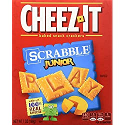 Sunshine Baked Snack Crackers, Cheez-It Scrabble Junior, 7 Ounce
