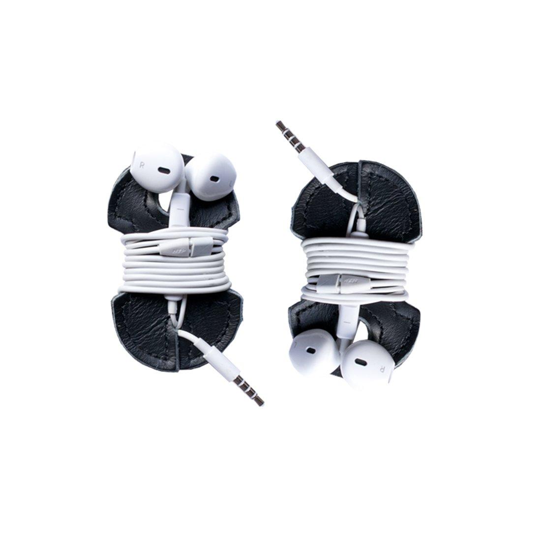 Leather Headphone Wrap 2-Pack Handmade by Hide & Drink :: Black