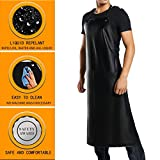 PVC Waterproof Apron,Heavy-duty, Matte Black,Best