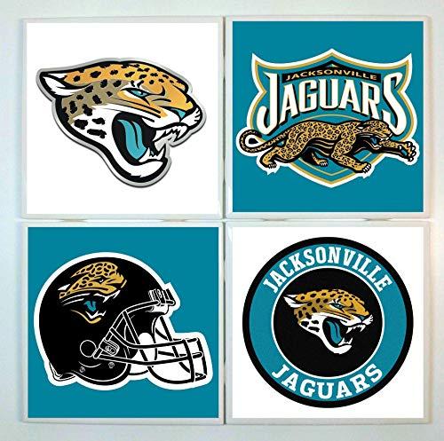 Jacksonville Jaguars Coasters - set of 4 tile coasters - football