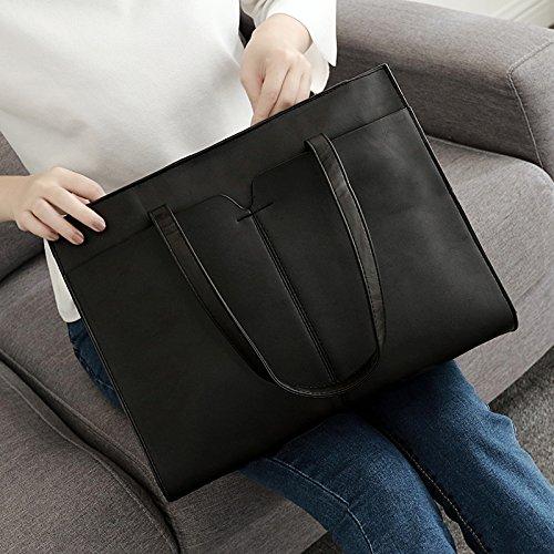 Bolsa de hombro solo bolso bolso casual, viento reducido PU, gris Black