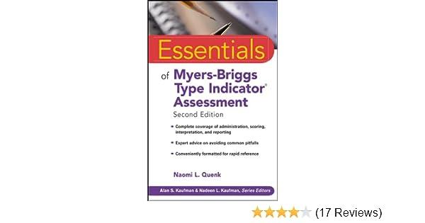 essentials of myers briggs type indicator assessment essentials of