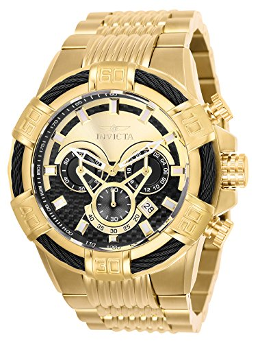 Invicta Men's Bolt Quartz Stainless-Steel Strap, Gold, 30 Casual Watch (Model: 25543) (Invicta Mens Watches Bolt)