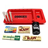 Red Cookies Rolling Tray Berner CookiesSF + Cypress Hill's Phuncky Feel Tip