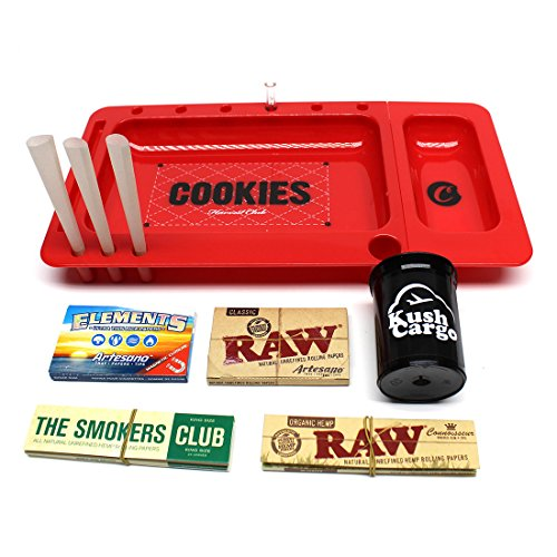 Red Cookies Rolling Tray Berner CookiesSF + Cypress Hill's Phuncky Feel Tip by Raw Threads