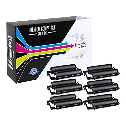 (SuppliesOutlet Compatible Thermal Transfer Replacement for Brother PC-201 (Black,6 Pack))