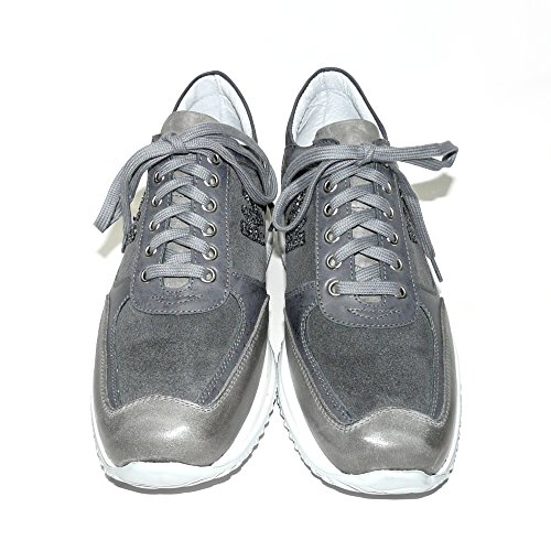 100 Grande Chaussures Worland Gris Taille 777 Velour Made Mod Italy 43 in Femme Cuir qAEwI