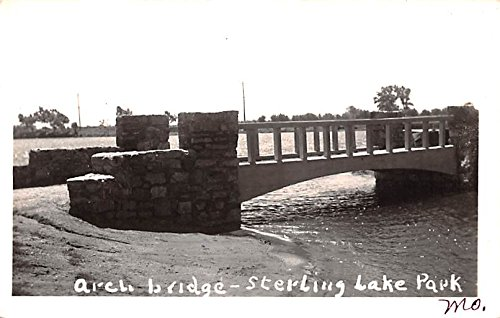 (Arch Bridge Sterling Lake Park, Missouri postcard)