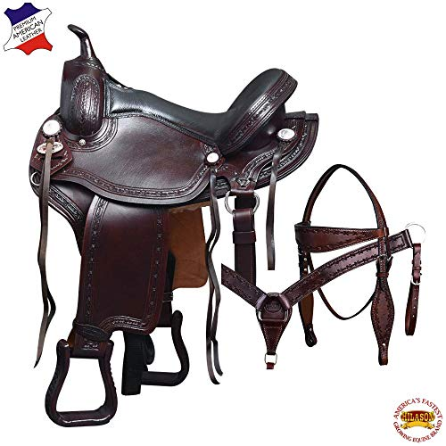 HILASON 16″ Gaited Western Horse Saddle American Leather Flex Pleasure