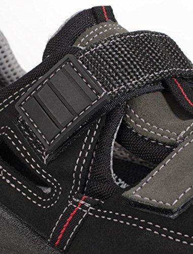 Ejendals 1605–44–Taglia 44JALAS 1605e-sport Sandali da lavoro, colore: nero/grigio/rosso