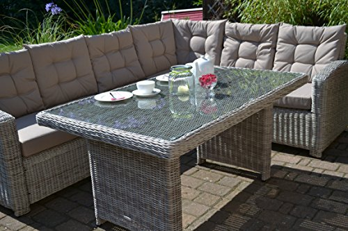 Amazon.de: Bomey Rattan Lounge Set I Gartenmöbel Set Manhattan 2 ...