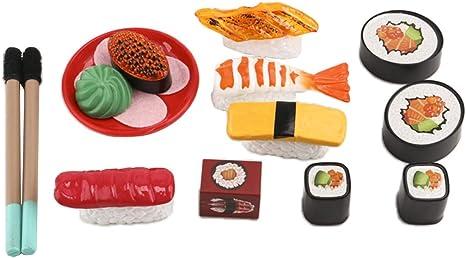 3 Stück Miniatur Küche Japanische Essen Sushi Lebensmittel für