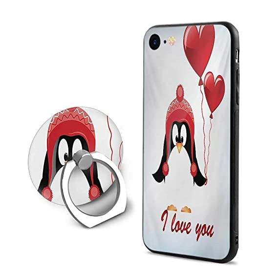 Valentines IPhone 7 8 CasesHappy Birthday Balloons I Love You Lettering Cute