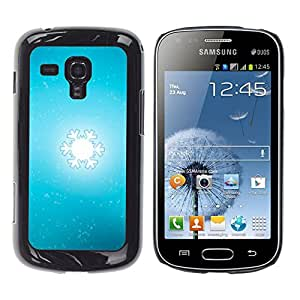 MOBMART Carcasa Funda Case Cover Armor Shell PARA Samsung Galaxy S Duos S7562 - Snow Blurry Flake