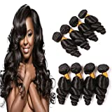 wet and silky - 8A Loose Wave 4 Bundles 20 22 24 26 Inches Mink Brazilian Virgin Hair Real Human Hair Extensions Deals Pack Silky Wet And Wavy Weaves For Black Women