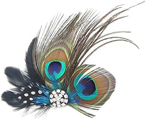 Tinksky u154–1 Belle plume de paon cheveux clip épingle à cheveux